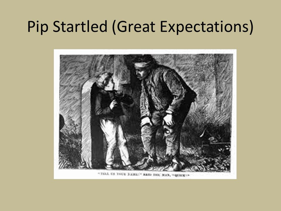 Pip Startled (Great Expectations)