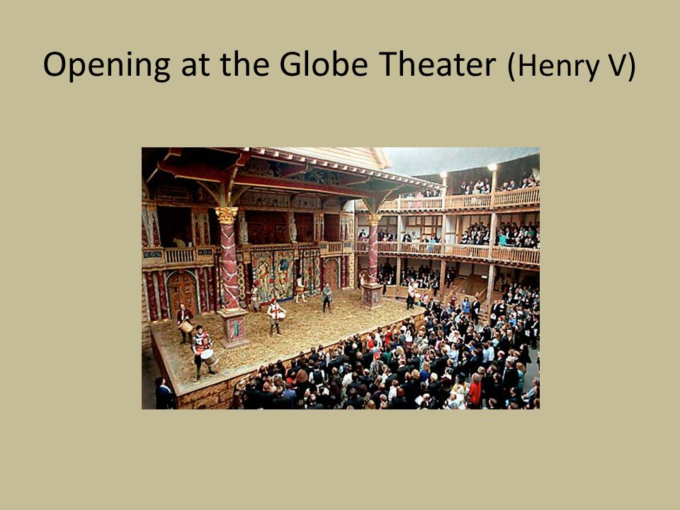 Opening at the Globe Theater (Henry V)