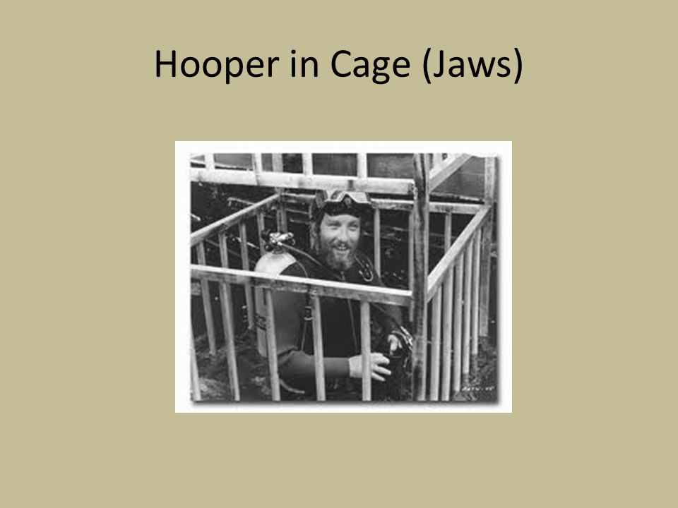 Hooper in Cage (Jaws)