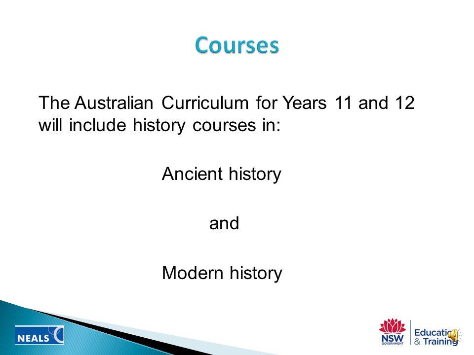 the draft curriculum