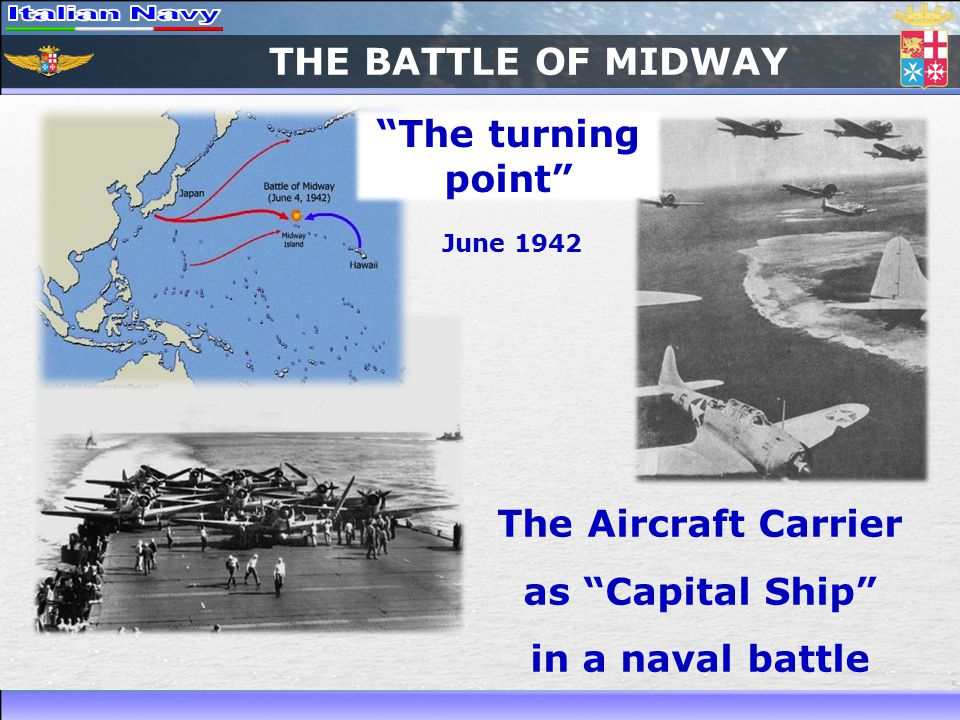 THE BATTLE OF MIDWAY The turning point The Aircraft Carrier as Capital Ship in a naval battle June 1942