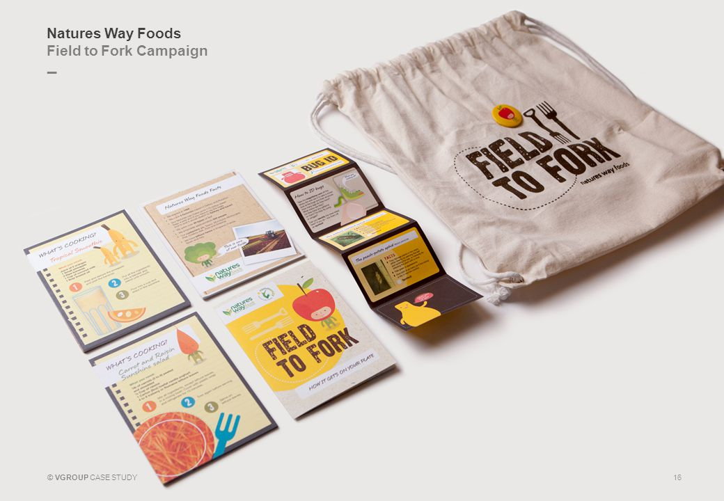 _ © VGROUP CASE STUDY Natures Way Foods Field to Fork Campaign 16