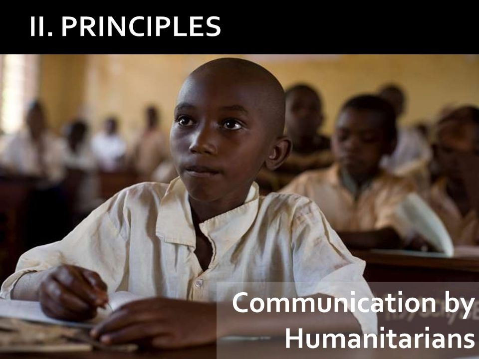 Communication by Humanitarians