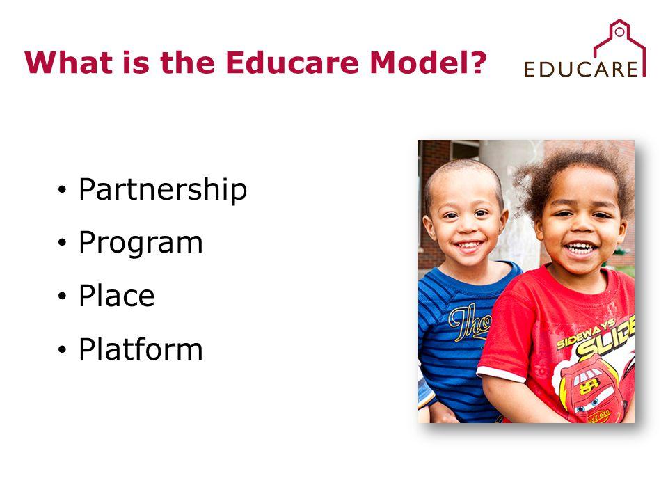 What is the Educare Model? Partnership Program Place Platform
