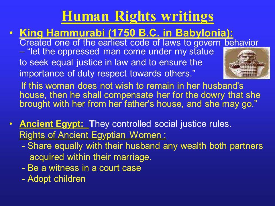 King Hammurabi (1750 B.C.