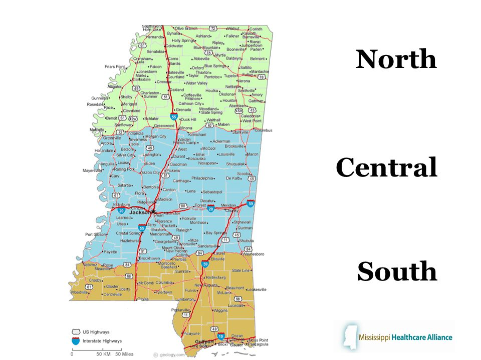 North Central South