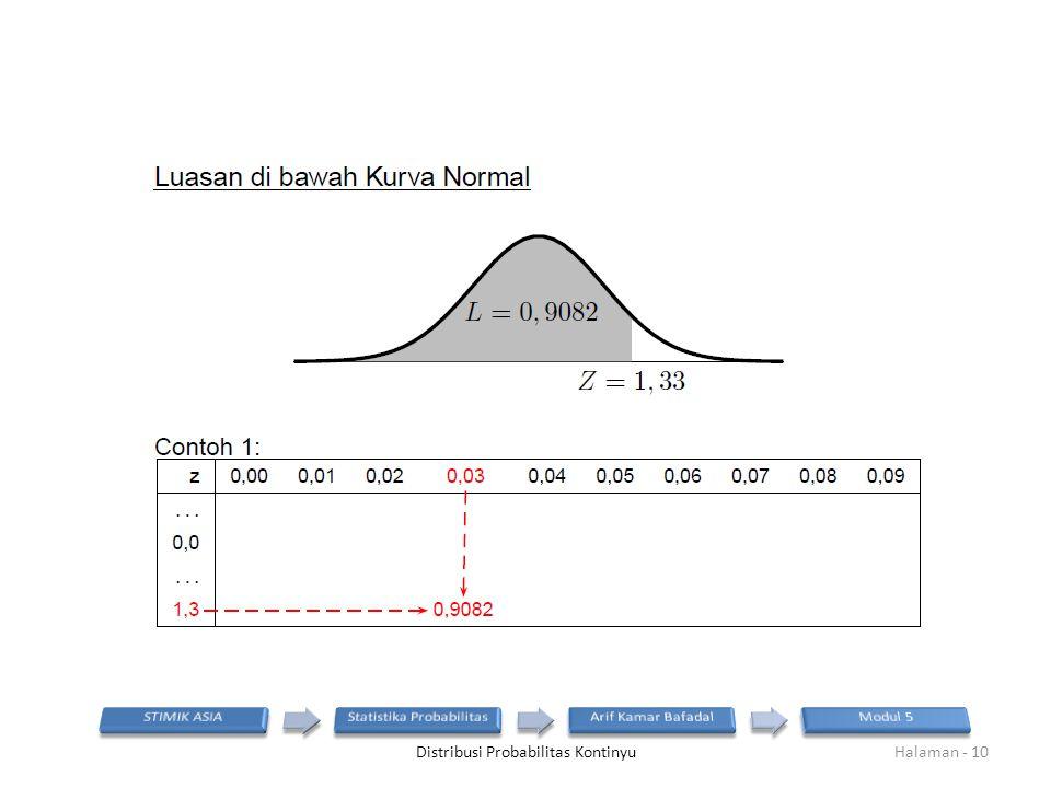 Distribusi Probabilitas KontinyuHalaman - 10