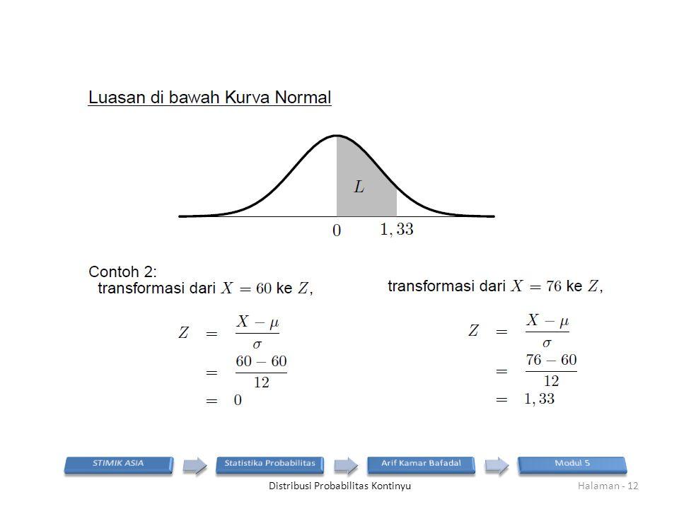 Distribusi Probabilitas KontinyuHalaman - 12