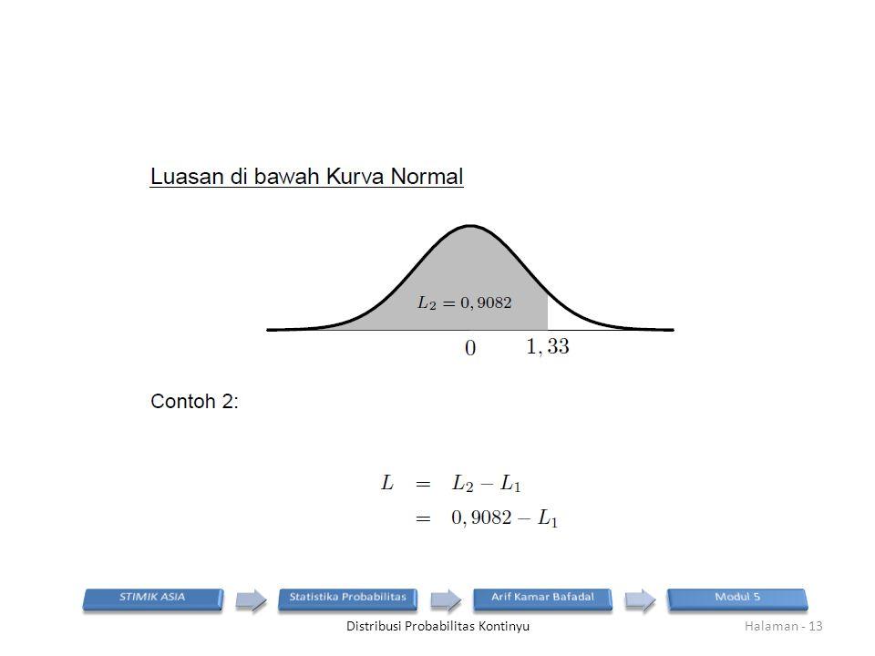 Distribusi Probabilitas KontinyuHalaman - 13