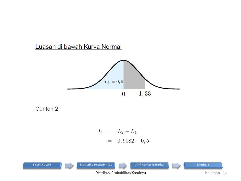 Distribusi Probabilitas KontinyuHalaman - 14
