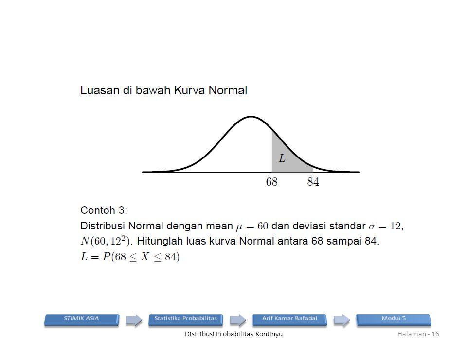 Distribusi Probabilitas KontinyuHalaman - 16