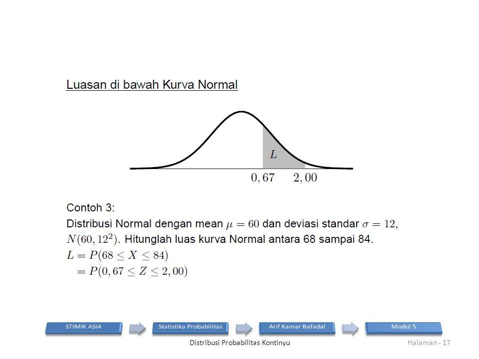 Distribusi Probabilitas KontinyuHalaman - 17