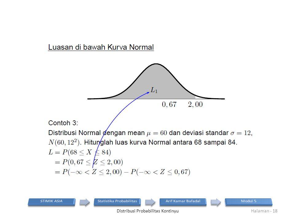 Distribusi Probabilitas KontinyuHalaman - 18