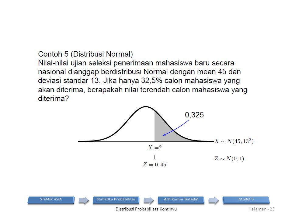 Distribusi Probabilitas KontinyuHalaman - 23