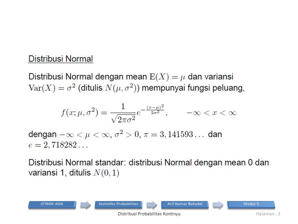 Distribusi Probabilitas KontinyuHalaman - 3