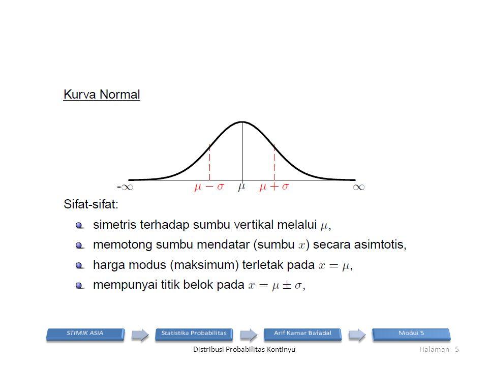 Distribusi Probabilitas KontinyuHalaman - 5