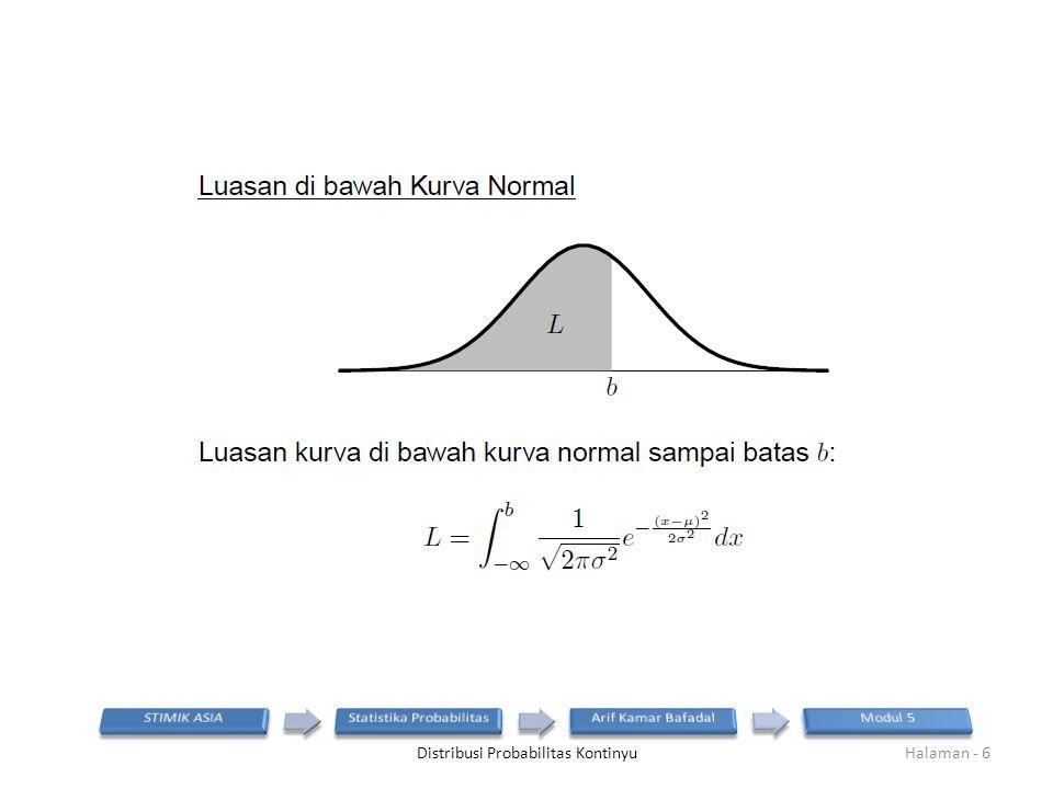 Distribusi Probabilitas KontinyuHalaman - 6
