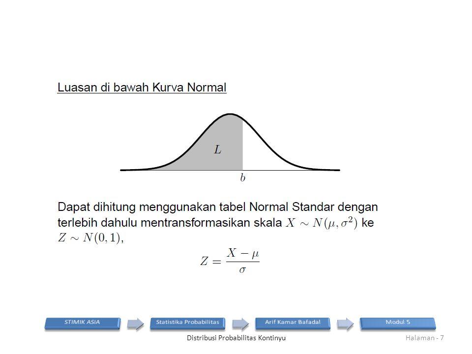 Distribusi Probabilitas KontinyuHalaman - 7