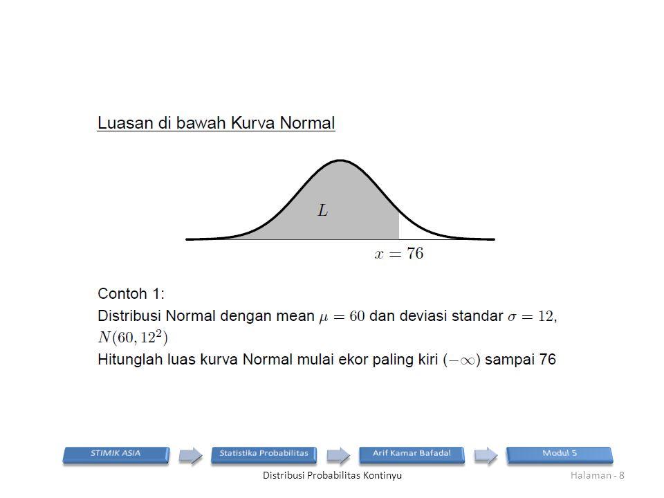 Distribusi Probabilitas KontinyuHalaman - 8