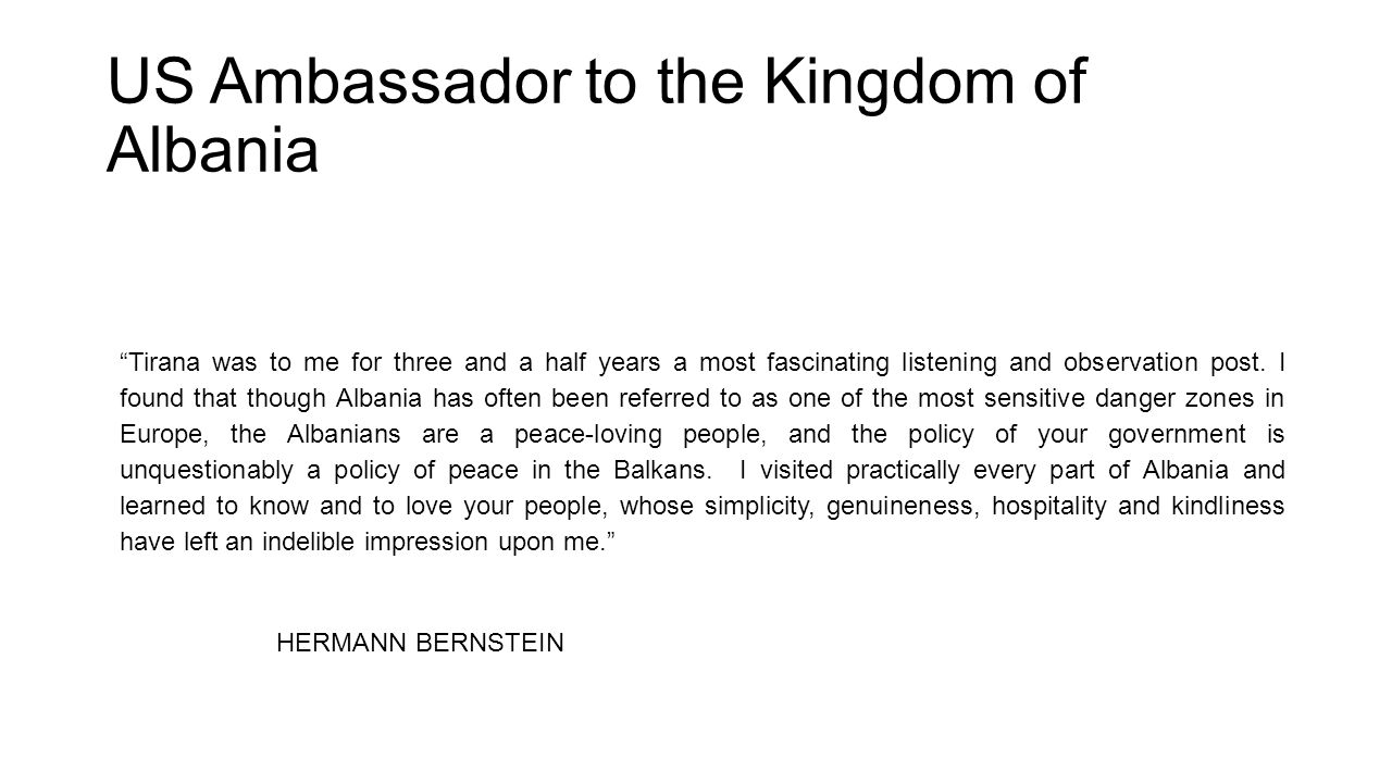 Why Bernstein was so much loved by Albanians.