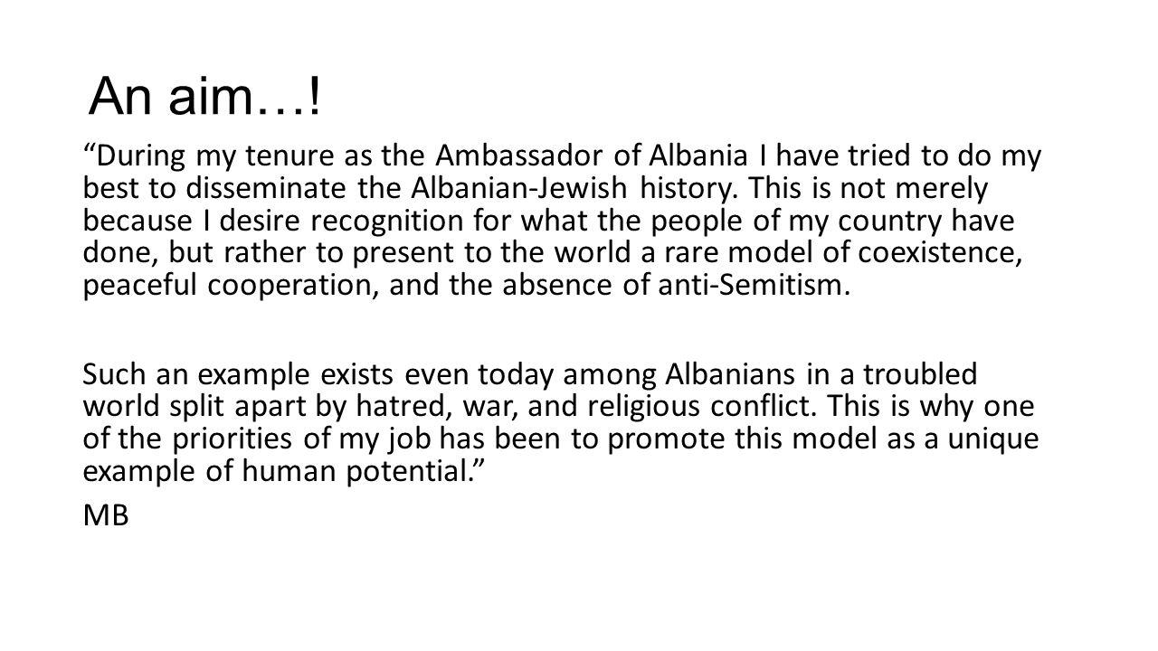 BERNSTEIN — AMERICAN MINISTER IN ALBANIA Bernstein assumed his position as American Minister to the Albanian Kingdom on February 17, 1930.