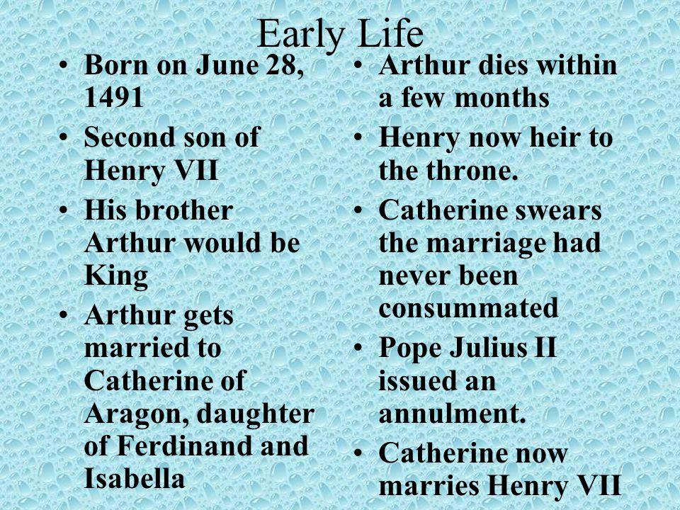 Henry VII Dies Henry VII dies of TB in 1509.