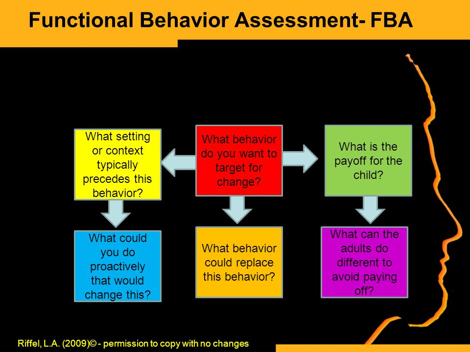 Functional Behavior Assessment- FBA Riffel, L.A.