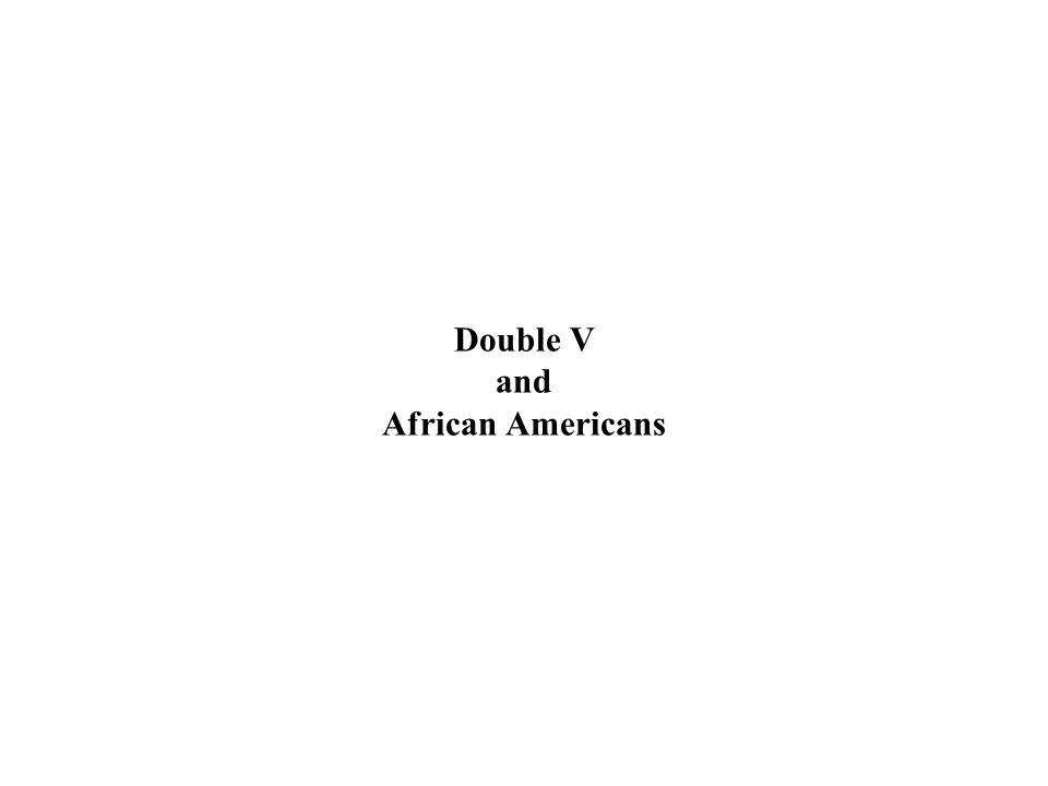 Double V and African Americans