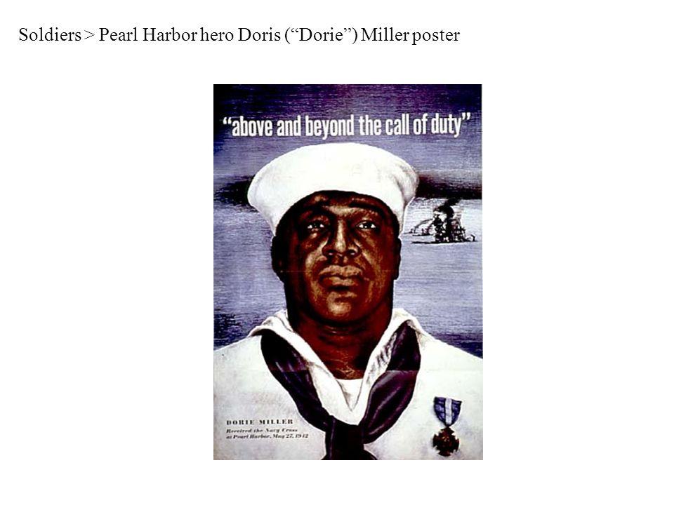 Soldiers > Pearl Harbor hero Doris ( Dorie ) Miller poster