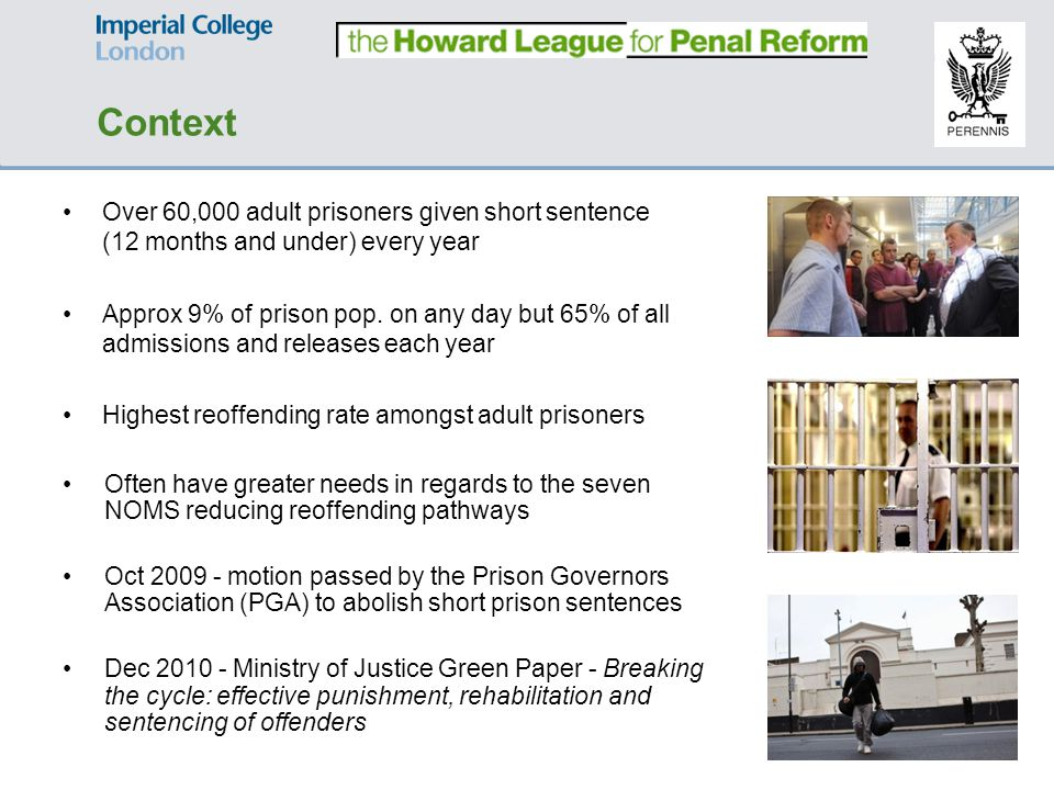 Objectives & Method Objectives: What are the day-to-day experiences and views of: short sentence male prisoners.
