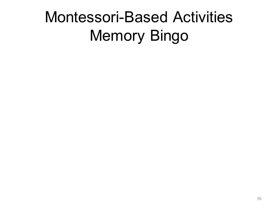 Montessori-Based Activities Memory Bingo 36