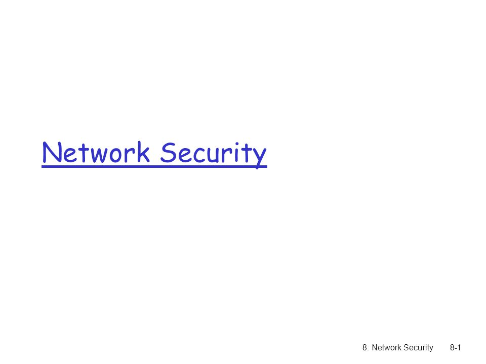 8: Network Security8-1 Network Security