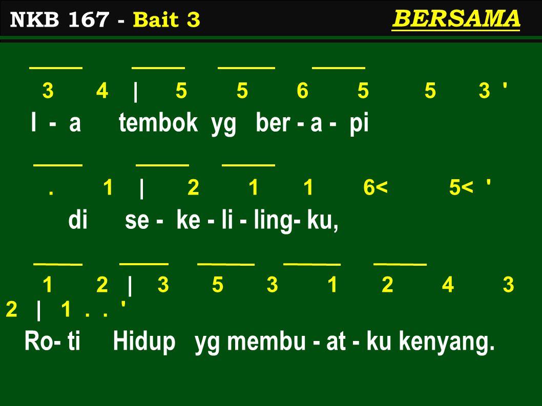 3 4 | 5 5 6 5 5 3 I - a tembok yg ber - a - pi.