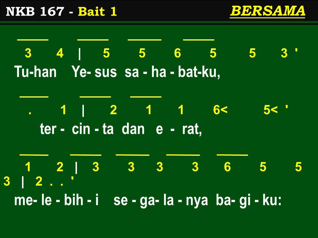 3 4 | 5 5 6 5 5 3 Tu-han Ye- sus sa - ha - bat-ku,.
