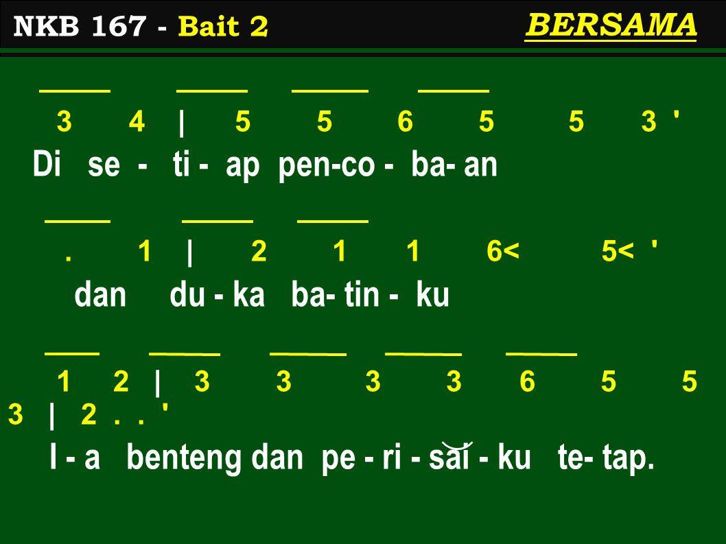 3 4 | 5 5 6 5 5 3 Di se - ti - ap pen-co - ba- an.