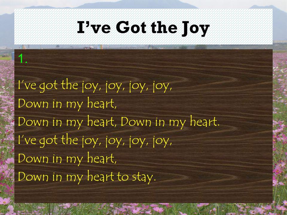 I've Got the Joy 1.