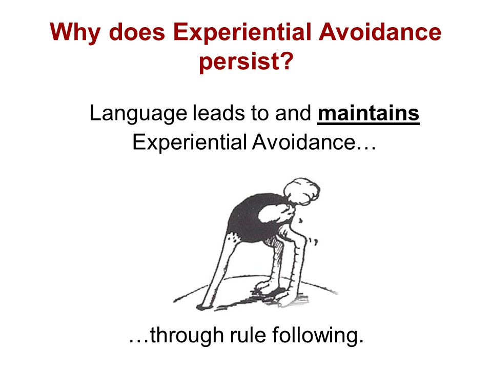 Why does Experiential Avoidance persist.