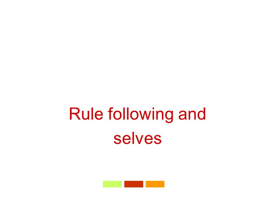 Rule following and selves