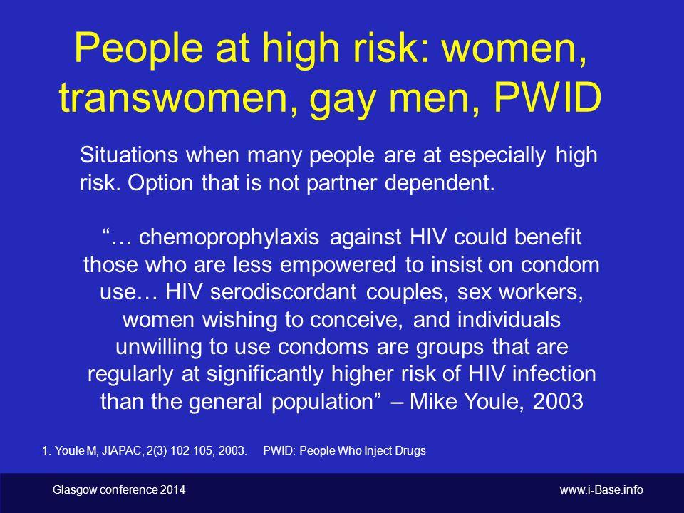 Glasgow conference 2014 www.i-Base.info Bangkok tenofovir study n=2413 people who inject drugs (PWID).