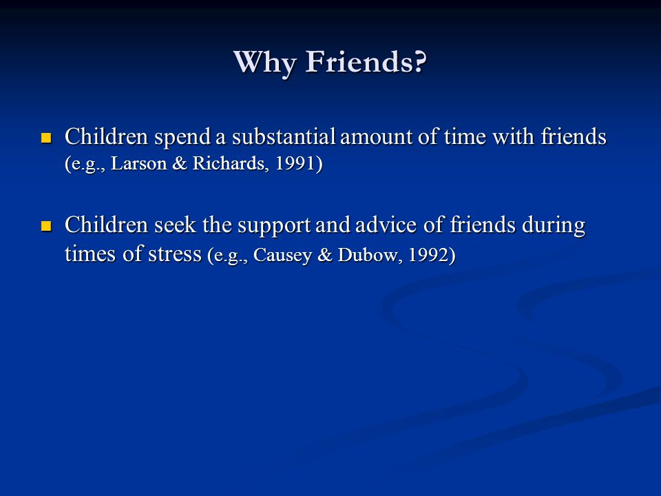 Research Questions What are the features of children's conversations with friends following achievement-related failure.