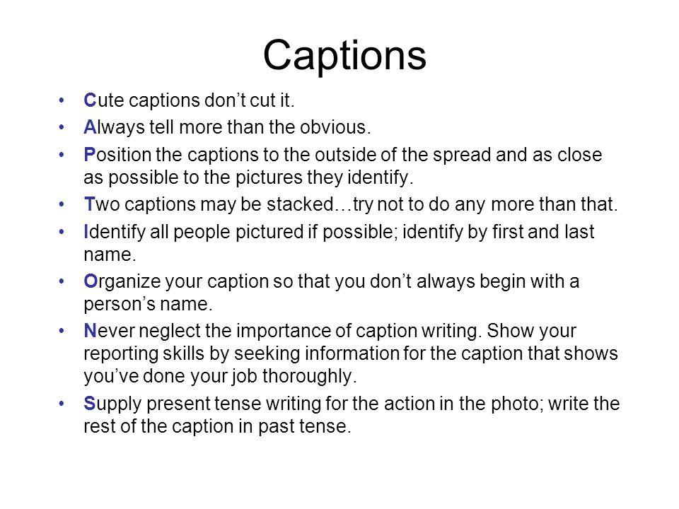 Keep captions interesting WHO.