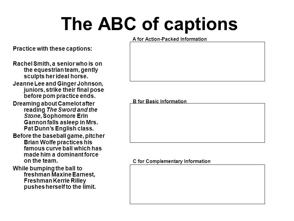 10 Ways to Write Caption Leads 10.