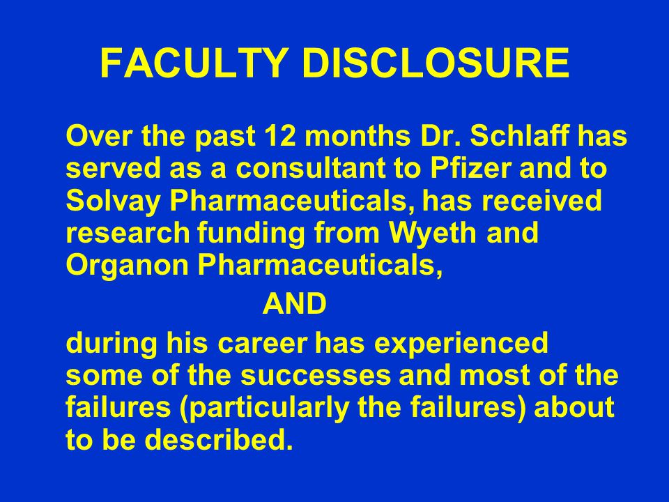 FACULTY DISCLOSURE Over the past 12 months Dr.