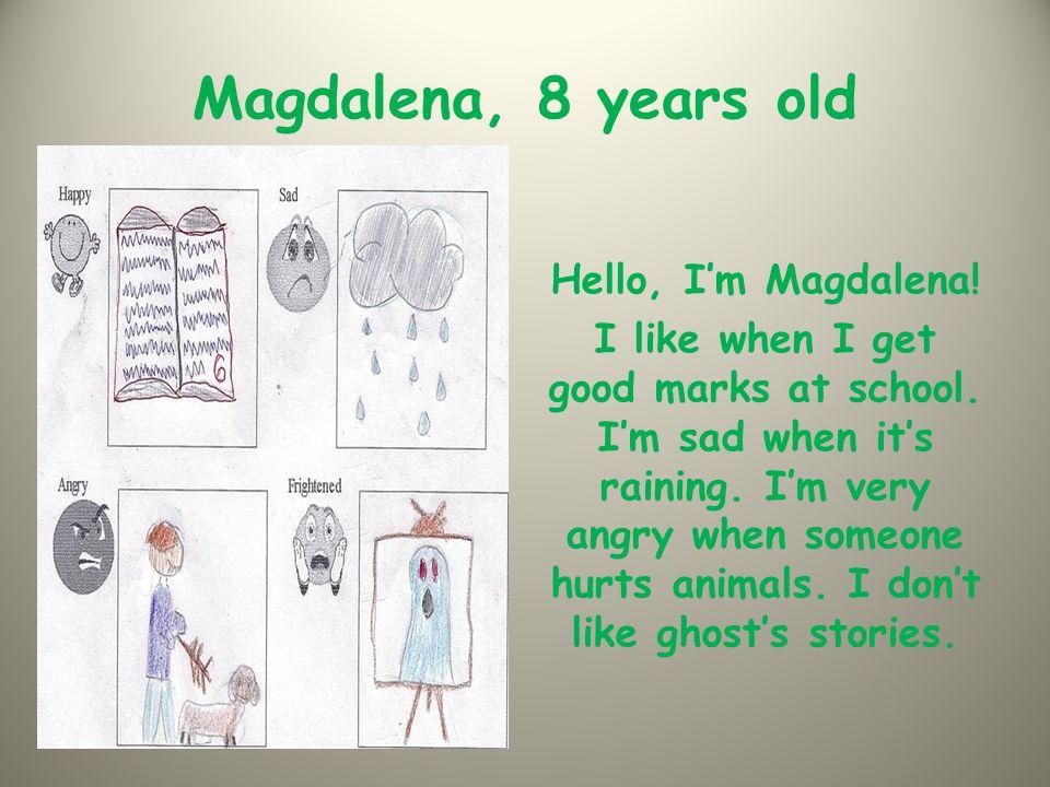 Mateusz, 8 years old Hello everyone.I'm Mateusz. I like swimming, it makes me happy.