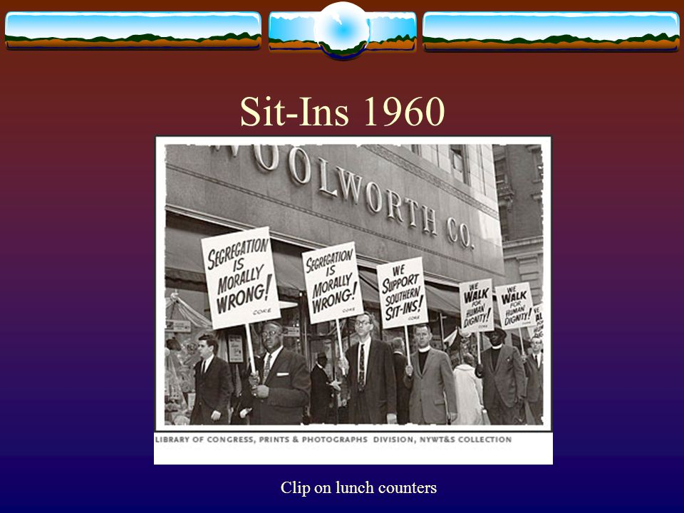 Sit-Ins 1960 Clip on lunch counters