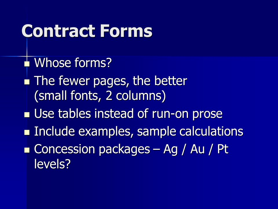 Contract Forms Whose forms. Whose forms.
