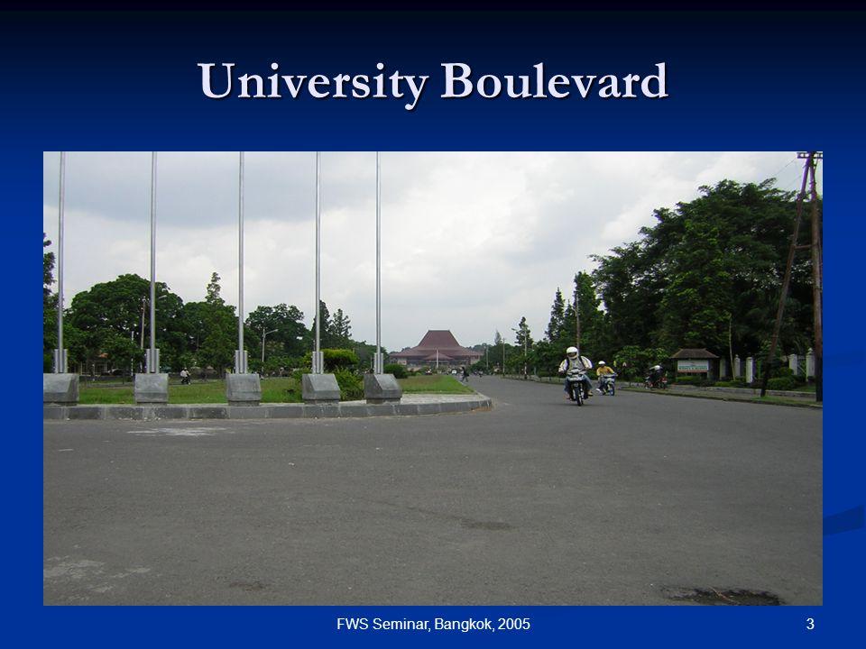 3FWS Seminar, Bangkok, 2005 University Boulevard