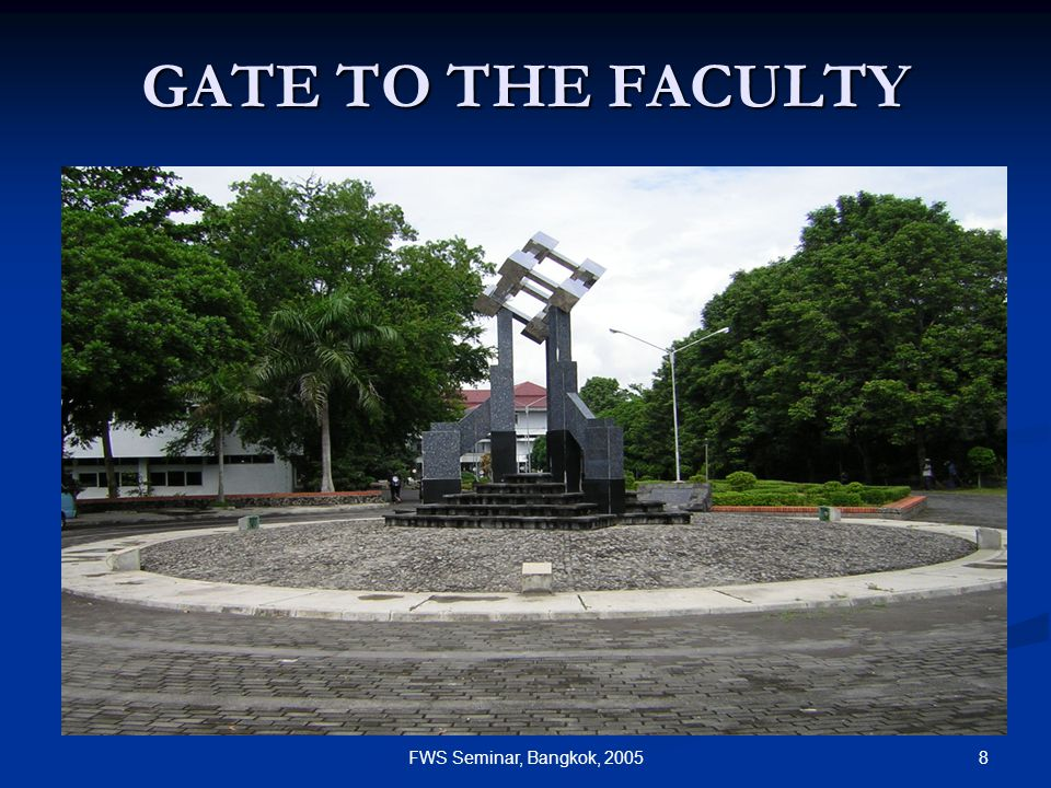 8FWS Seminar, Bangkok, 2005 GATE TO THE FACULTY