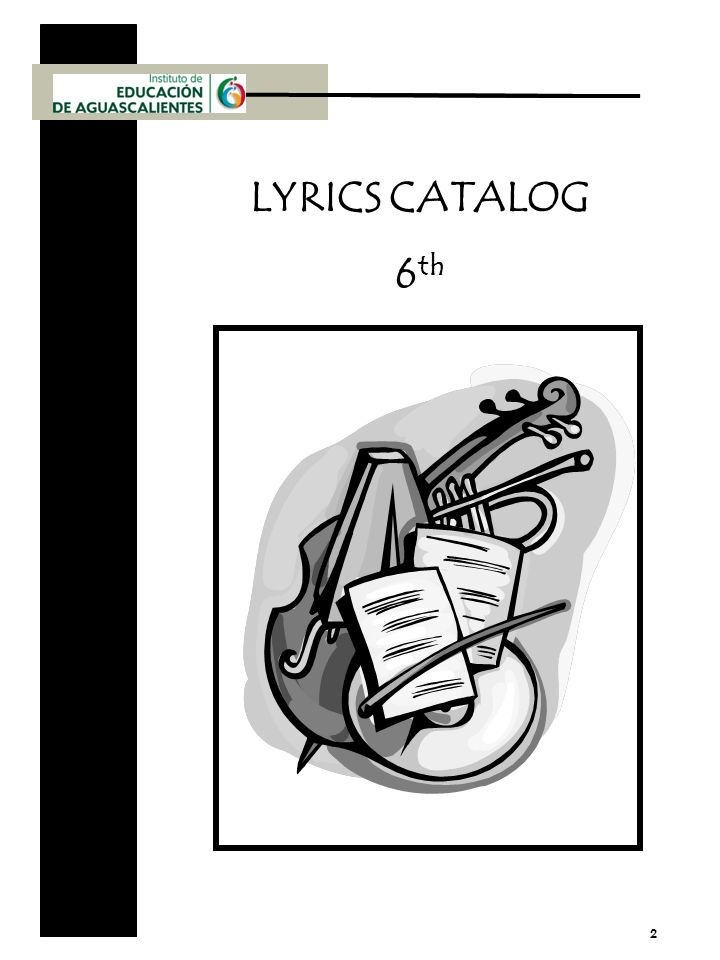 2 LYRICS CATALOG 6 th