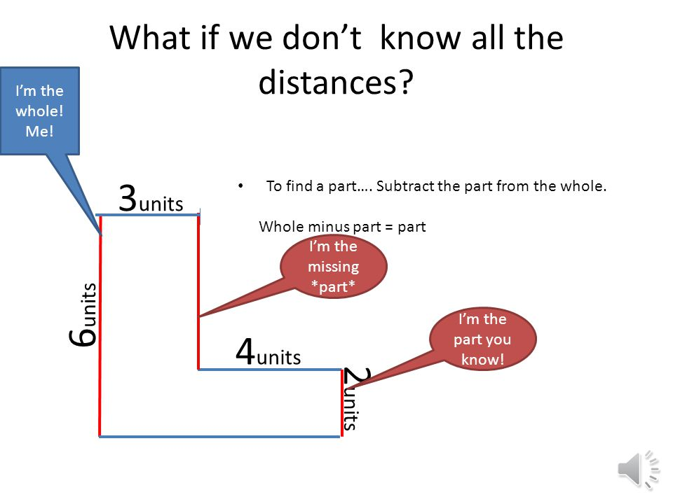 What if we don't know all the distances.